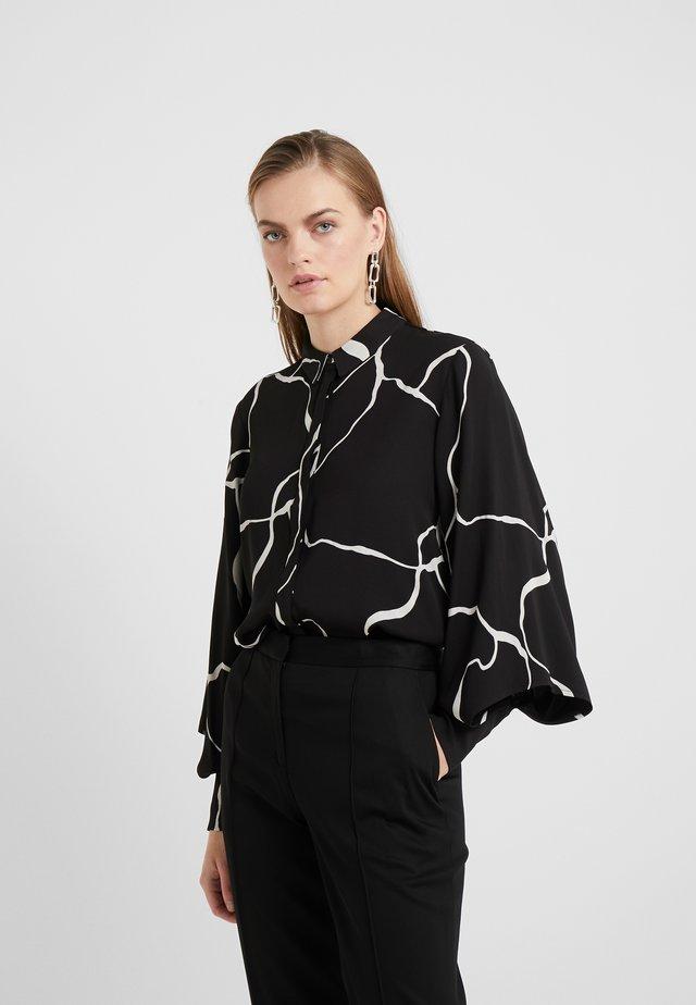 BONNE ABSTRACT SHIRT - Button-down blouse - black