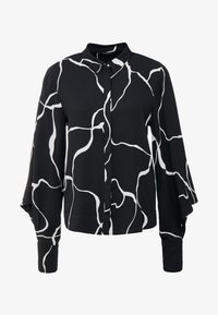 Bruuns Bazaar - BONNE ABSTRACT SHIRT - Button-down blouse - black - 3