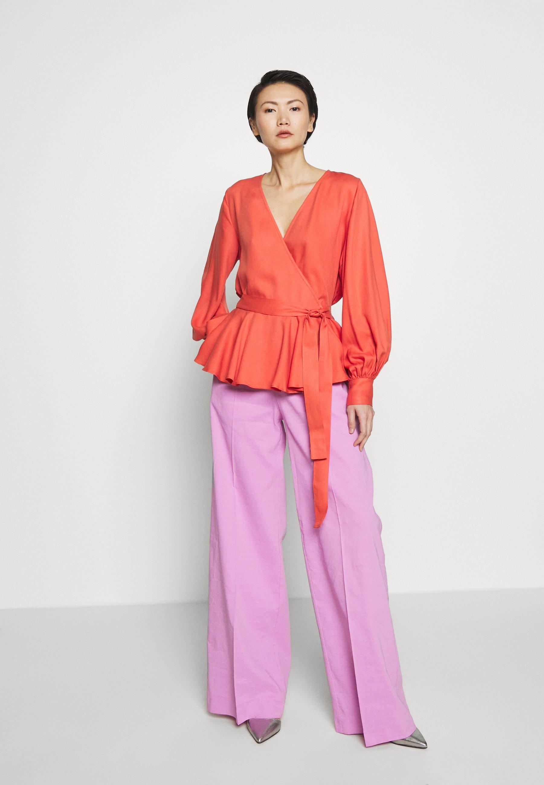 Bruuns Bazaar PRALENZA SILVINE BLOUSE - Bluzka - poppy red