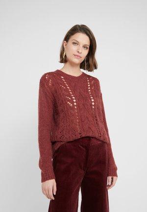 BELLA KASS  - Stickad tröja - brown bordeaux