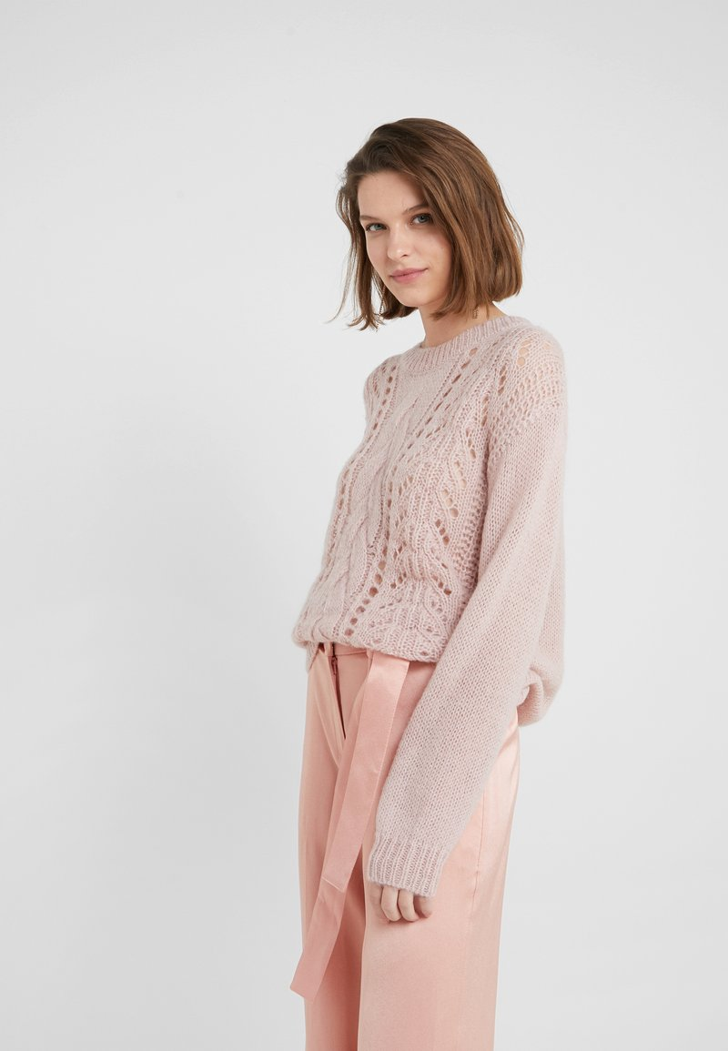 Bruuns Bazaar - BELLA KASS  - Strikkegenser - creamy rosa