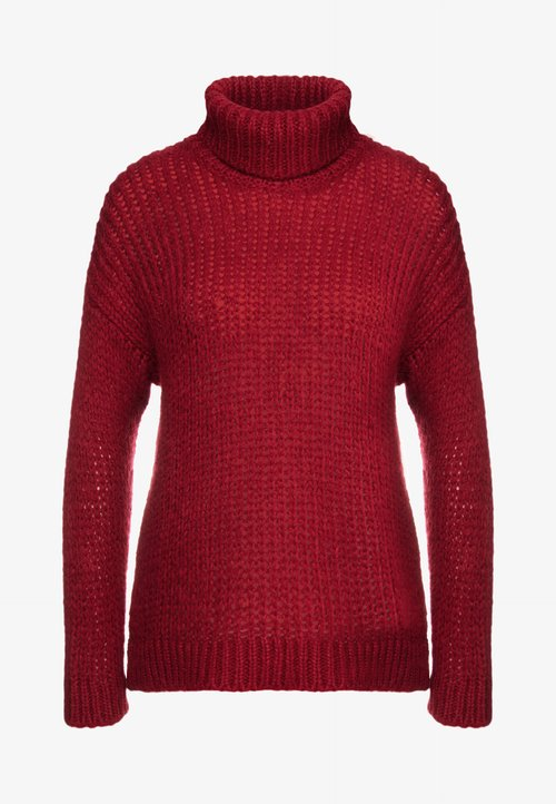 najlepszy Bruuns Bazaar SIRIH AUGUSTA - Sweter - red rust Odzież Damska HGWZ-QM8