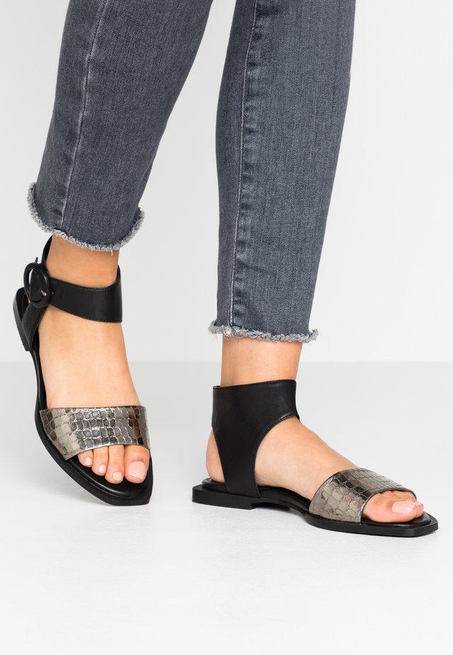 Sandals - sombrero/cocco nero/uniacciaio