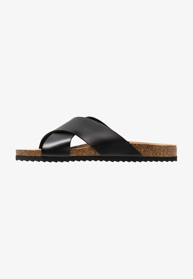 DAWSON - Pantofle - black