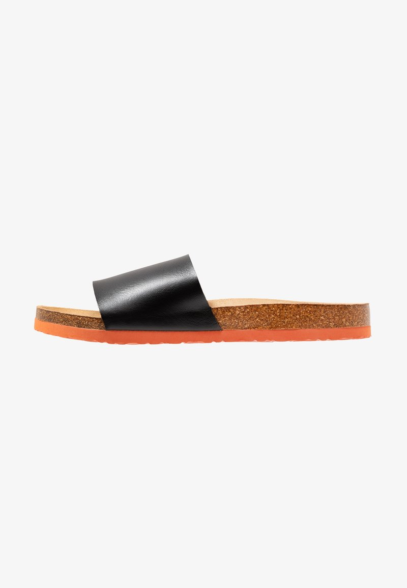Brave Soul - BLAZE - Mules - black/orange