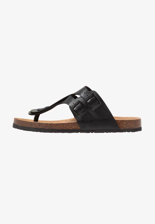 PENTLE - Sandály s odděleným palcem - black