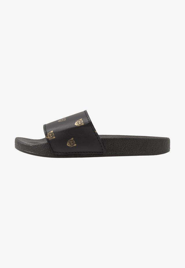 ZANZIBAR - Matalakantaiset pistokkaat - black/gold