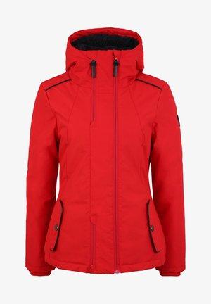MIT TEDDYFELL UND KAPUZE - Winter jacket - red