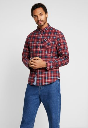 ISSAC - Overhemd - red/navy