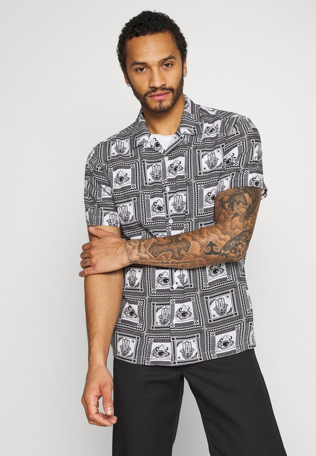 MOSAIC - Shirt - black/white