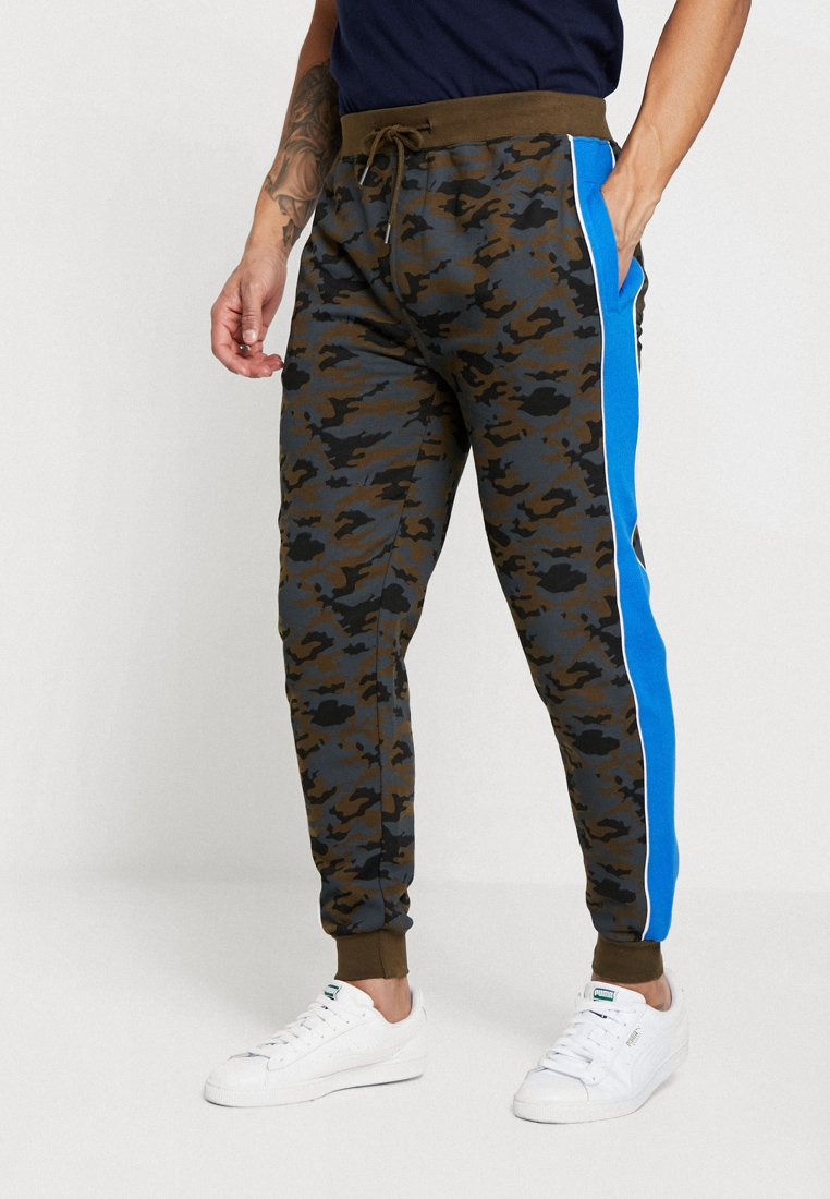 Brave Soul - ZIBAL - Pantalones deportivos - khaki/royal/white