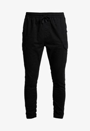 HADDON - Pantalon cargo - black