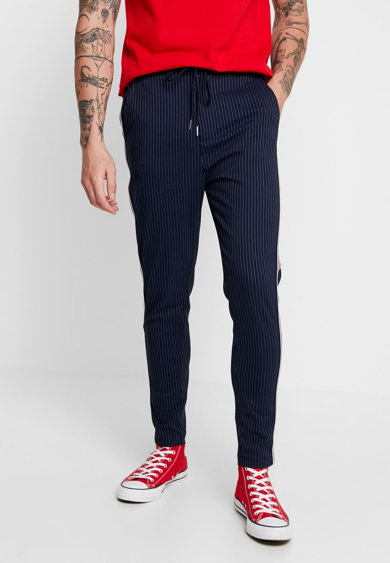 Brave Soul - BUCKLEY - Trousers - navy stripe