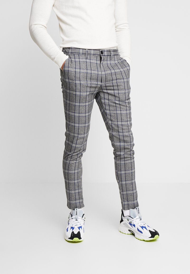 Brave Soul - STONE - Trousers - grey check