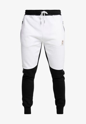 GLIMCO - Tracksuit bottoms - black/white