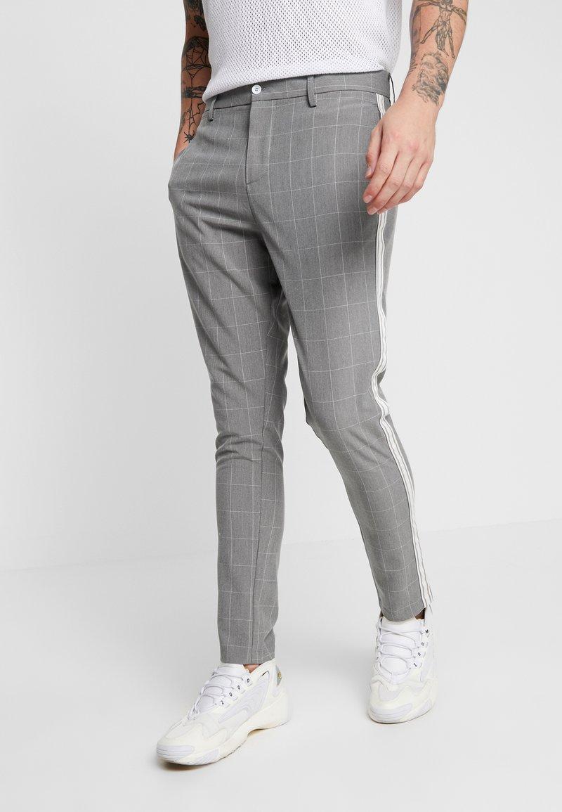 Brave Soul - TREY - Trousers - grey check