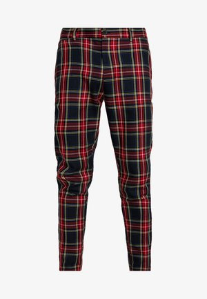 INSLEY - Trousers - red/navy