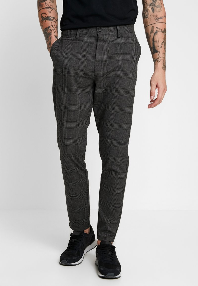 Brave Soul - STEIN - Trousers - grey/dark green