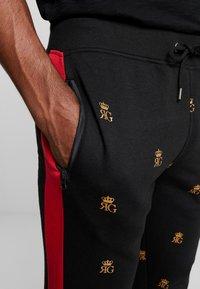 Brave Soul - MONOGRAM - Pantalones deportivos - black - 3