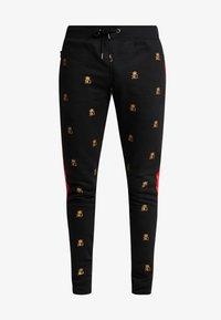 Brave Soul - MONOGRAM - Pantalones deportivos - black - 4