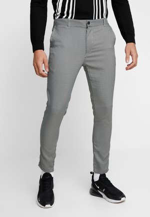 ALBERT - Pantaloni - black/cream