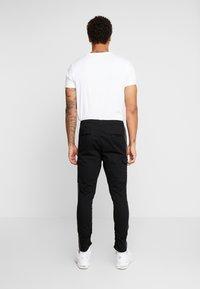 Brave Soul - HADDONSTRIPE - Cargo trousers - black/grey - 2