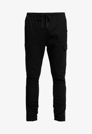HADDONSTRIPE - Cargo trousers - black/grey