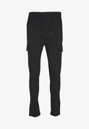 BUCKSTON - Cargo trousers - black