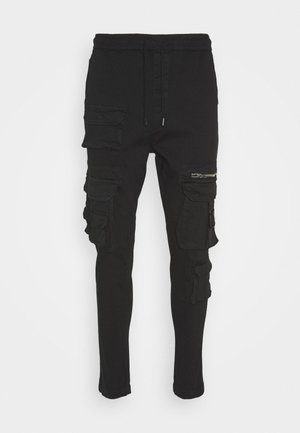 LEEDS - Pantalon cargo - black