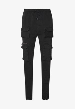 MOLTON - Pantaloni cargo - black