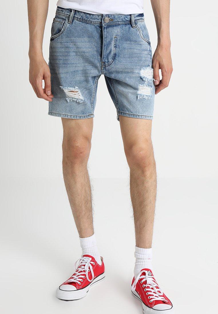 Brave Soul - GREGOR ROSE - Jeans Shorts - blue
