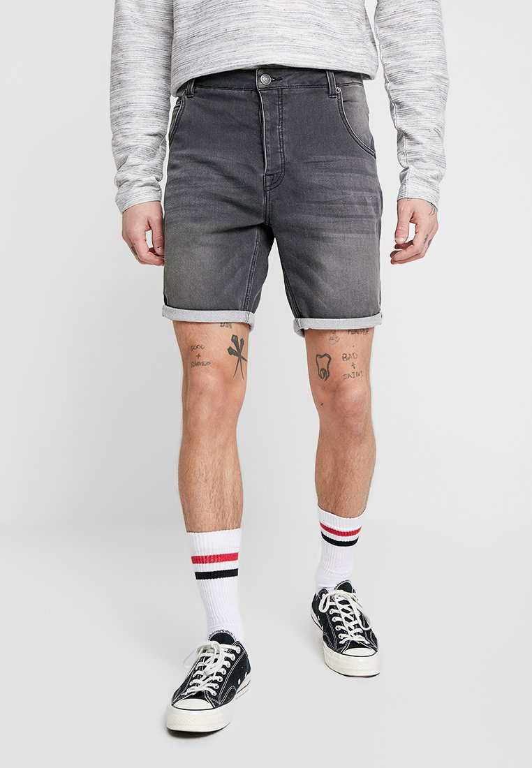 Brave Soul - LINCOLN - Jeans Shorts - charcoal wash
