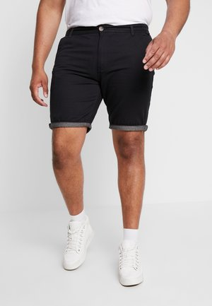 HANSENCHA PLUS - Shorts - navy/chambray turn up