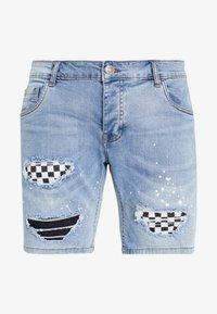 Brave Soul - SKATE - Short en jean - blue denim - 4