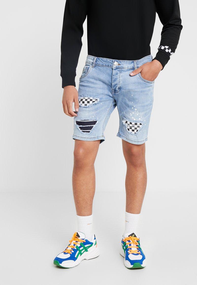 Brave Soul - SKATE - Jeans Shorts - blue denim