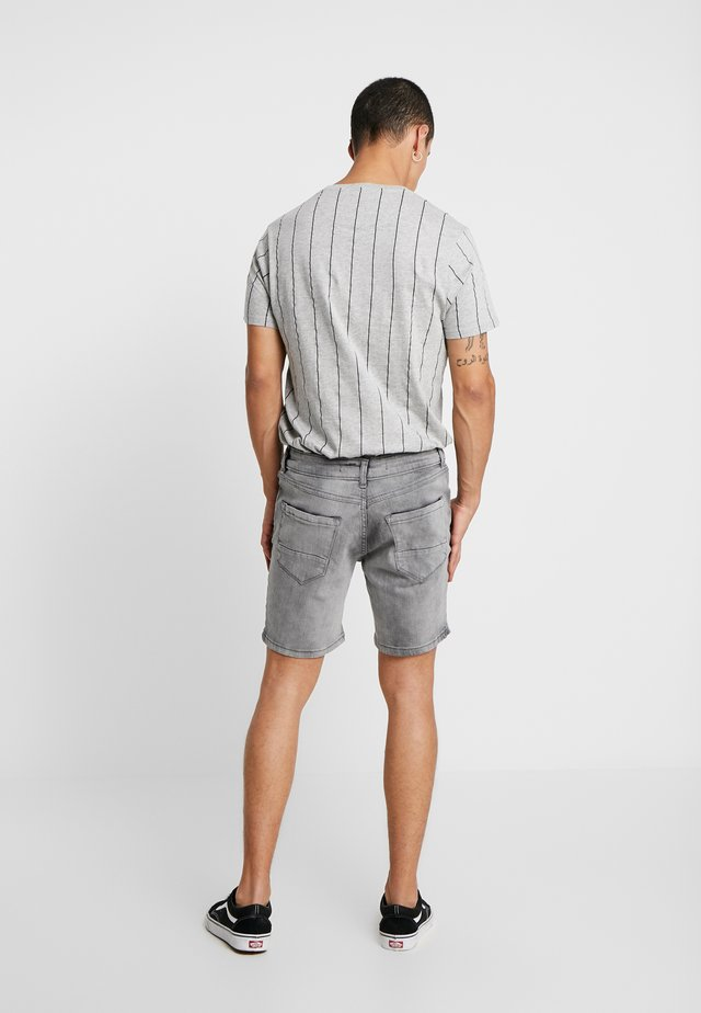 RICK - Denim shorts - light grey