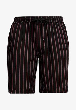 Shortsit - black/white/burgundy