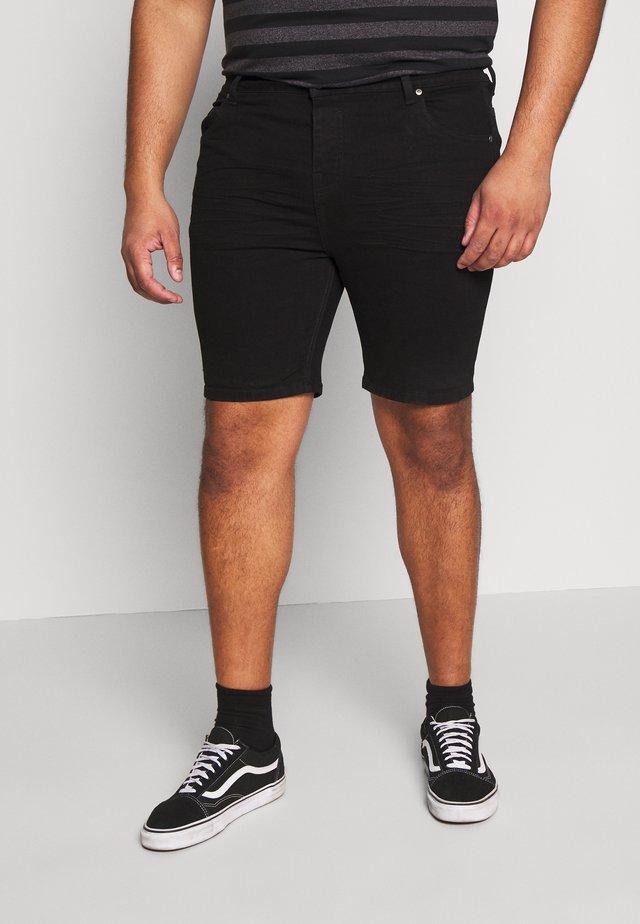 Denim shorts - black wash
