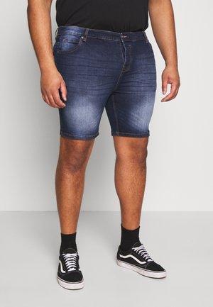 SIMON - Denim shorts - dark blue wash