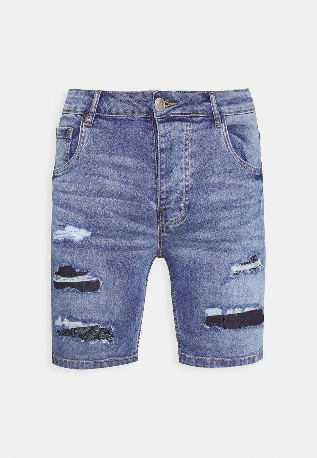 LOUIS - Jeansshorts - blue wash