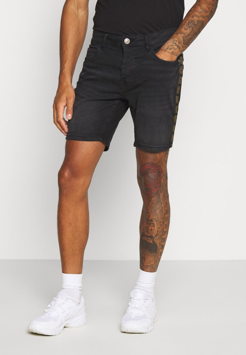 Brave Soul - RUBIN - Denim shorts - charcoal