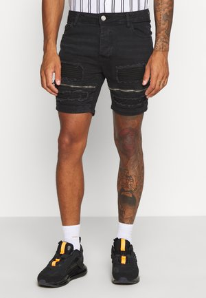 LARKIN - Denim shorts - charcoal