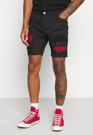 NEVADA - Denim shorts - charcoal