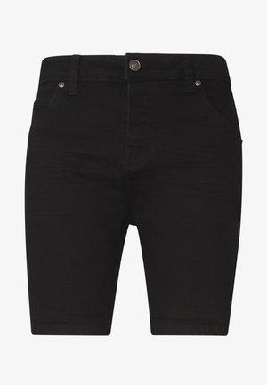 SIMON - Szorty jeansowe - black