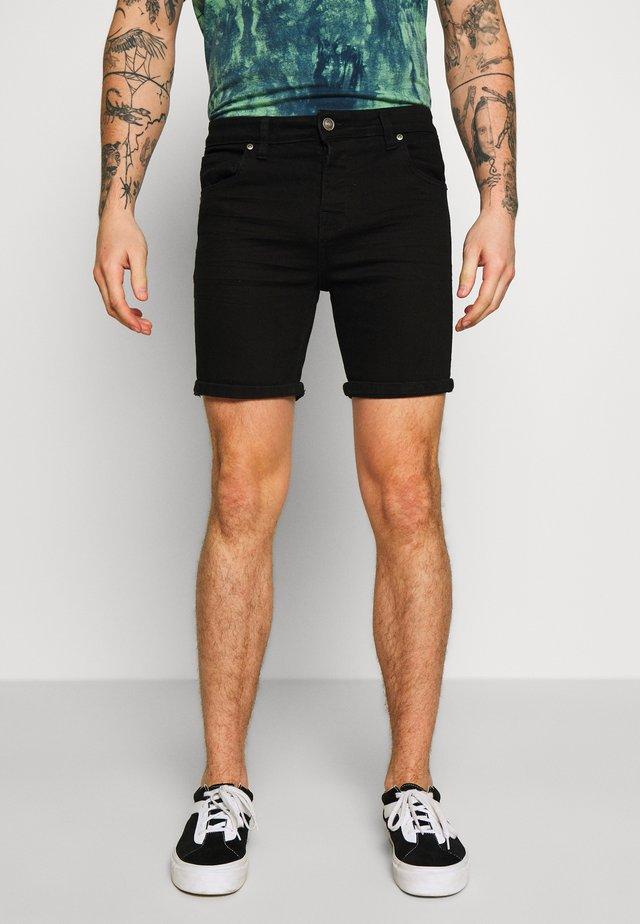 SIMON - Jeansshorts - black