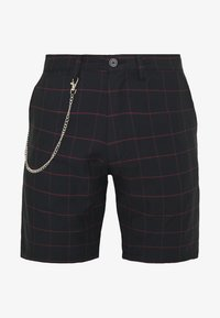 Brave Soul - CHESTER - Shorts - black/burg check - 0