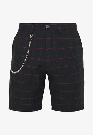 CHESTER - Shorts - black/burg check