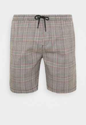 COLTON - Shorts - black/white/light brown