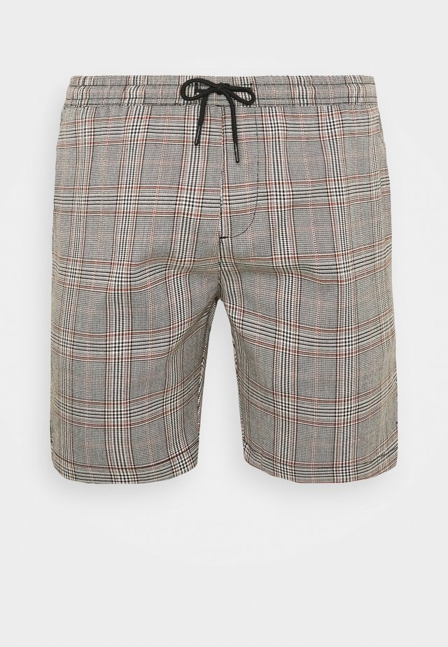COLTON - Shorts - black/white/light brown