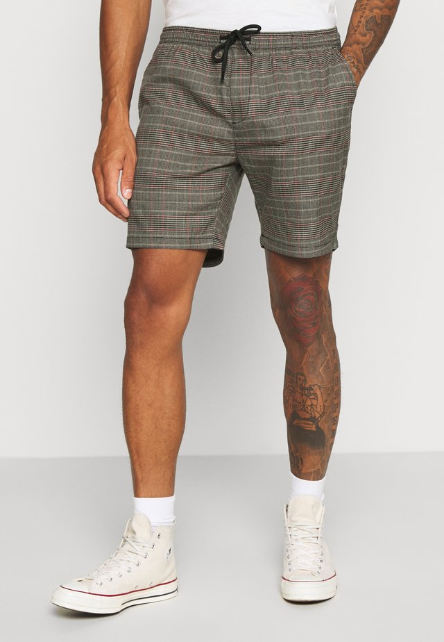 Short - black/grey/red check